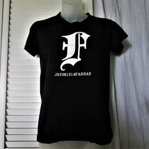 American Apparel black cotton graphic tee shirt M